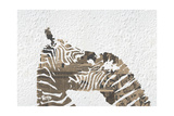 Zebras on White Giclee Print by  Whoartnow