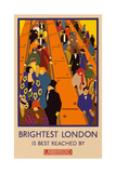 London Underground Brightest London Giclee-trykk av  Vintage Apple Collection