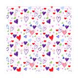 Hearts 1 Reproduction procédé giclée par Valarie Wade