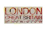 London, Great Britian Reproduction procédé giclée par  Whoartnow