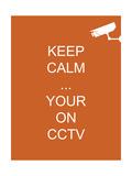 Keep Calm Your're on CCTV Reproduction procédé giclée par  Whoartnow