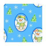 Snowman Pattern 1 Reproduction procédé giclée par Valarie Wade