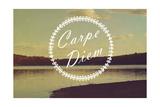 Carpe Diem Lámina giclée por  Vintage Skies