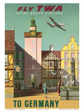 Germany - Fly TWA (Trans World Airlines) Poster von S. Greco