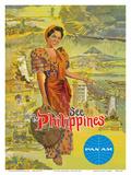 See the Philippines - Pan American World Airways Kunstdrucke von  Pacifica Island Art