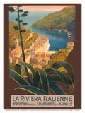 La Riviera Italienne (The Italian Riviera) - Portofino, Italy Poster di Mario Borgoni