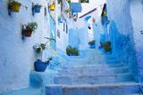 Chefchaouen, Morocco. Narrow Alleyways for Foot Traffic Only Fotografisk trykk av Emily Wilson