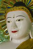 Myanmar. Mandalay. Sagaing Hill. Thirty Caves Temple. Buddha Reproduction photographique par Inger Hogstrom