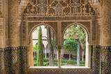 Granada, Spain, Alhambra, Close Up of Architecture in Nasrid Palace Premium-Fotodruck von Bill Bachmann
