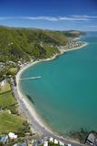 Days Bay, Eastbourne and Wellington Harbour, Wellington, New Zealand Fotografisk tryk af David Wall
