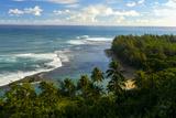 Ke'e Beach, Napali Coast, Haena, State Park, Kauai, Hawaii Fotografisk trykk av Douglas Peebles