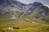 Solitary Small Home in Scottish Highlands Near Glencoe, Scotland, UK Photographic Print by Brian Jannsen