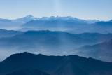 Andes Mountain Range with Glaciers, Southern Chile Lámina fotográfica por Pete Oxford
