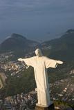 Art Deco Statue of Jesus, Corcovado Mountain, Rio de Janeiro, Brazil Photographic Print by Peter Adams