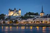 Chateau Saumur and River Loire, Maine-Et-Loire, Centre, France Fotografisk trykk av Brian Jannsen
