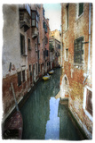 Textures on Canals of Venice Along with Bridges and Old Homes Photographic Print by Darrell Gulin