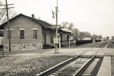 Train Station, Lincoln, Illinois, USA. Route 66 Stretched Canvas Print by Julien McRoberts