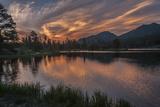 USA, Colorado, Rocky Mountain National Park. Sprague Lake at Sunset Photographic Print by Cathy & Gordon Illg