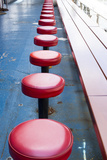New York City, NY, USA. Vintage Diner Seats Photographic Print by Julien McRoberts