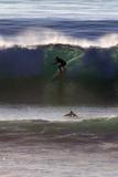 USA, California, San Diego. Surfer at Cardiff by the Sea Reproduction photographique par Kymri Wilt