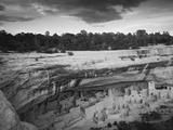 USA, Colorado, Mesa Verde NP. Overview of Cliff Palace Ruins Lámina fotográfica por Dennis Flaherty