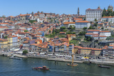 Europe, Portugal, Oporto, Douro River, Rabelo Ferry Boat Fotoprint van Lisa S. Engelbrecht