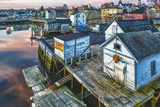 The South End at Dawn, Portsmouth, New Hampshire Premium Photographic Print by Jerry & Marcy Monkman
