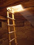 Ladder in a Kiva in Mesa Verde National Park, Colorado Lámina fotográfica por Greg Probst