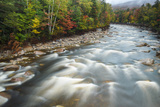 Autumn Along the Pemigewasset River, White Mountain NF, New Hampshire Fotografie-Druck von Jerry & Marcy Monkman
