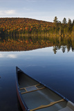 A Canoe on the Shore of Pond of Safety, Randolph Forest. New Hampshire Photographic Print by Jerry & Marcy Monkman