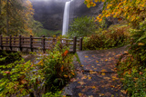 South Falls in Autumn at Silver Falls State Park, Silverton, Oregon Photographic Print by Chuck Haney