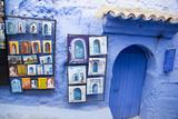Painted Tiles in the Kasbah, Chaouen, Tangeri-Tetouan, Morocco Photographie par Emily Wilson