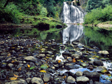 USA, Oregon, Young's River Falls. Waterfall Landscape Photographic Print by Steve Terrill