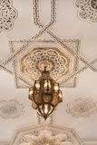 Marrakech, Morocco Chandelier Light in Ceiling in Downtown City Photographie par Bill Bachmann