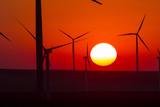 Washington, Walla Walla. Windmills. Stateline Wind Project Reproduction photographique par Brent Bergherm