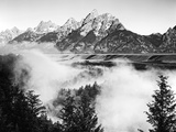 USA, Wyoming, Grand Teton National Park. Mountain Sunrise Reproduction photographique par Dennis Flaherty