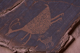 Petroglyph, Monument Valley Navajo Tribal Park, Arizona Lámina fotográfica por Michel Hersen