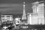 USA, Nevada, Las Vegas. City Buildings at Night Photographic Print by Dennis Flaherty