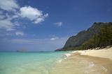 USA, Hawaii, Oahu, Waimanalo Beach Fotografisk tryk af David Wall