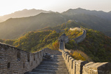 The Great Wall at Mutianyu Near Beijing in Hebei Province, China Foto von Peter Adams