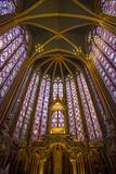 Stained Glass Windows of Sainte Chappelle, Paris, France Foto von Brian Jannsen