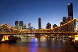 Story Bridge and Skyline Along the Brisbane River, Brisbane, Australia Photo by Peter Adams