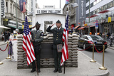 Recreated Check Point Charlie Display for Tourists, Berlin, Germany Photo by Dennis Brack