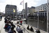 Canal Scene in Hamburg, Germany Photo by Dennis Brack