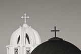 Greece, Santorini. Church Steeples and Crosses Photo by Bill Young