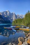 Canada, Banff NP, Valley of the Ten Peaks, Moraine Lake, Canoe Dock Fotografia por Jamie & Judy Wild