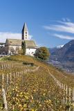 Baroque Church of Village Kurtatsch, Unterlandes, South Tyrol, Italy Foto av Martin Zwick
