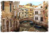 Textures on Canals of Venice Along with Bridges and Old Homes Photo by Darrell Gulin