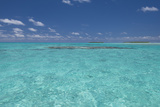 Cook Islands. Palmerston Island. Shallow Lagoon with Coral Foto af Cindy Miller Hopkins