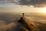 Art Deco Statue of Jesus,On Corcovado Mountain, Rio de Janeiro, Brazil Foto von Peter Adams